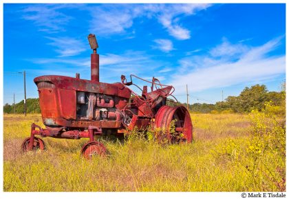 Old Tractor in A Georgia Farm Field