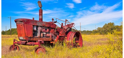 Old Tractor in A Georgia Farm Field