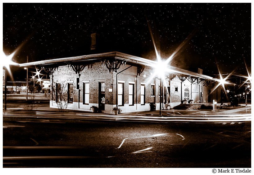 Black And White Art Print of Montezuma Depot