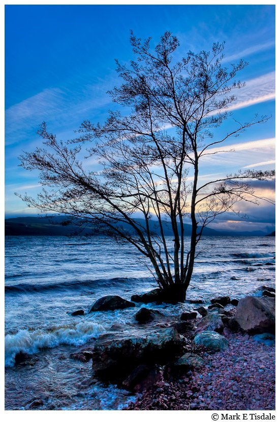 Blue Dusk Art Print Of Loch Ness Scotland