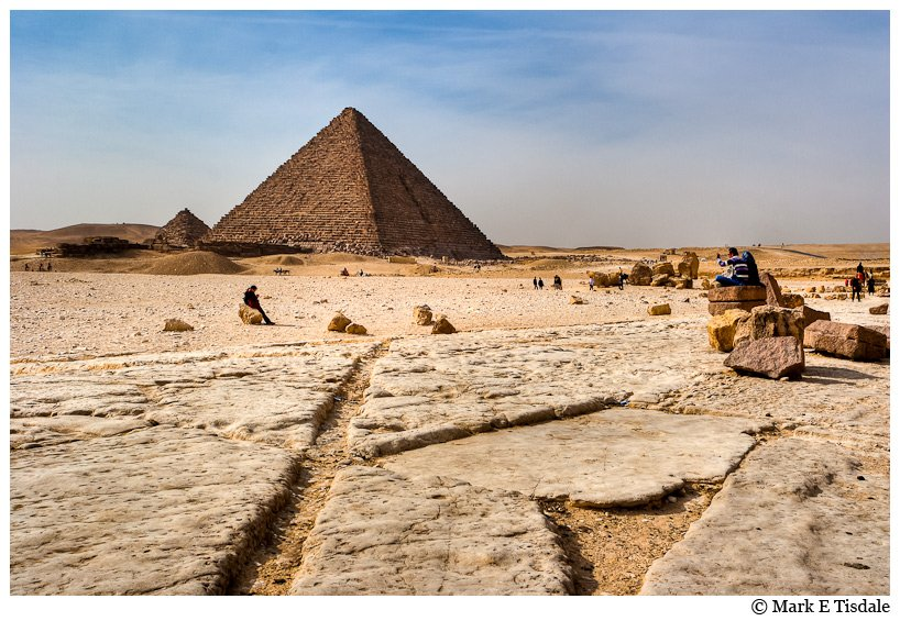 Picture of the pyramid of Pharaoh Menkaure, last of the great pyramids