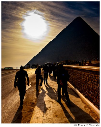 Silhouette photo of the great pyramid of Khufu in Gizah