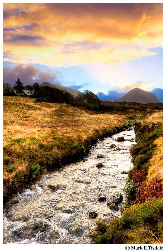 Art Print at dawn on Isle of Skye