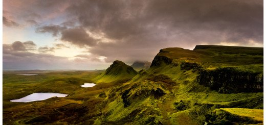 Dramatic Panorama Photo of the incredible Scottish Landscape on Isle of Skye