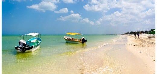 Beautiful Gulf Beach - Celestún Mexico in the Yucatan