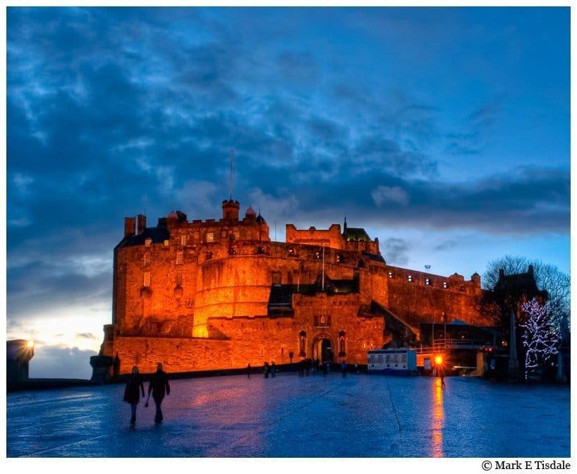 Art Print of Edinburgh Castle At Dusk