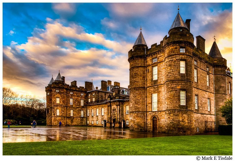 Stormy Art Print of Holyrood Palace