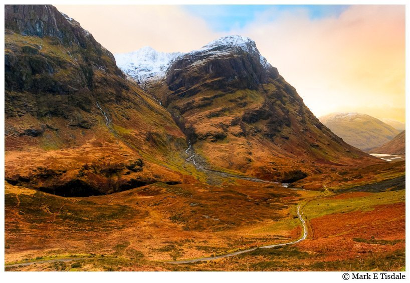 Art Print of Glen Coe Landscape - Scottish Highlands