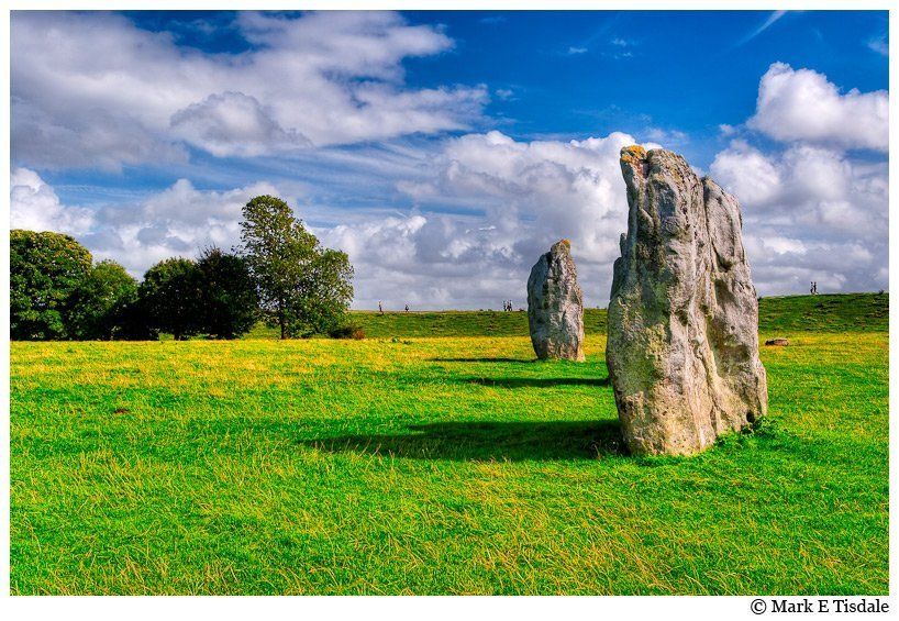 Standing Stone circle photo of Avebury in England