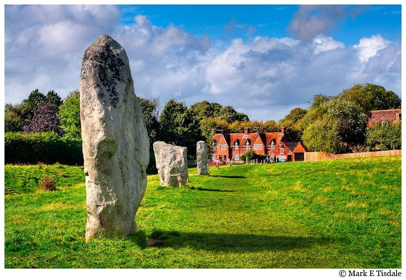 Avebury England Photo - Standing stones and English Country Village