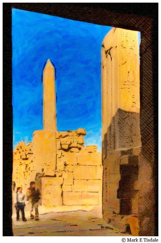 Karnak Temple ruins - Painterly image from Egypt