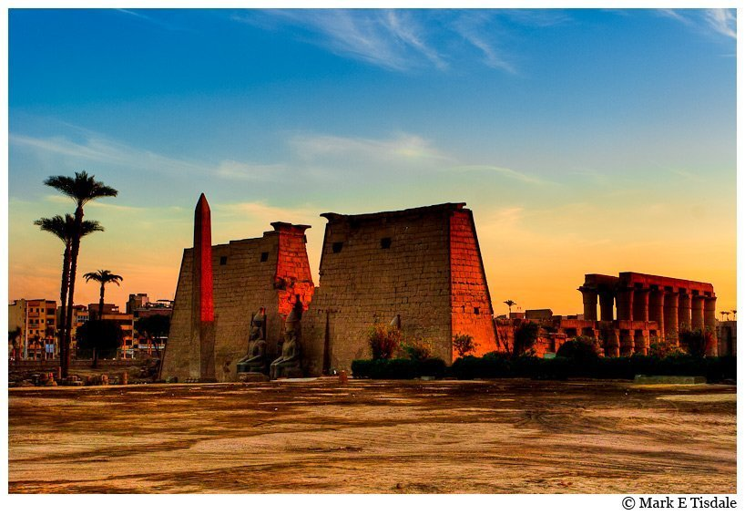 Sunset picture - Luxor Temple Egypt