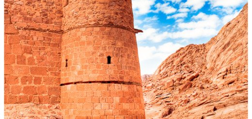 Picture of the Walls of Saint Katherine's Monastery at the base of Mount Sinai in Egypt