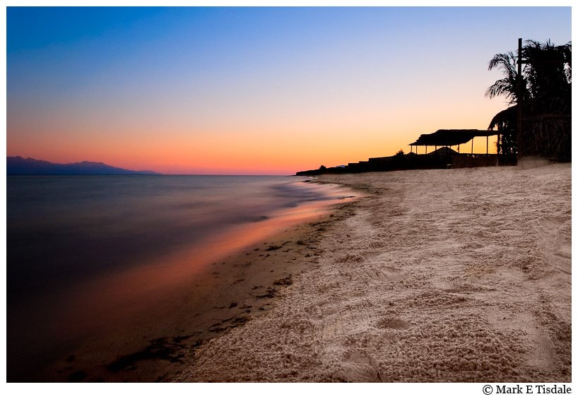 Nuwieba Egypt - Red Sea near Sunset - photo
