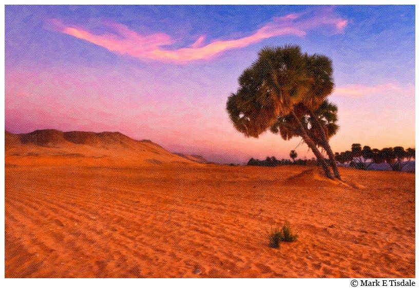 Egypt's Western Desert - Sahara - Textured Picture - Painterly Effect