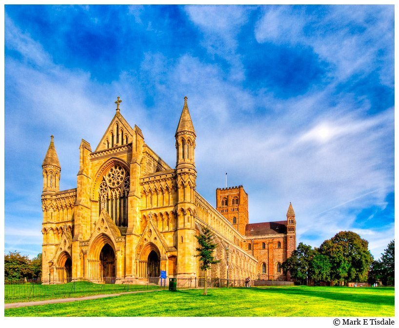 Picture of St. Alban's Abbey Church near London