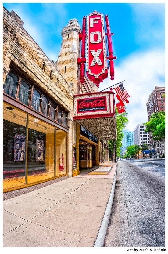 Photo of a landmark on Peacthree Street, the famous Fox Theater