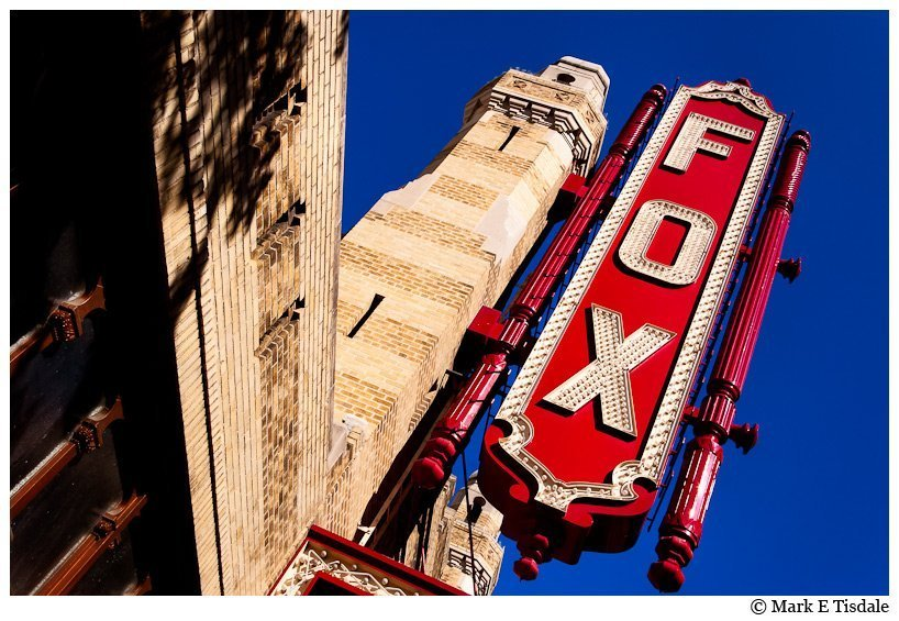 Color photo of the sign on the Fox Theater in Atlanta