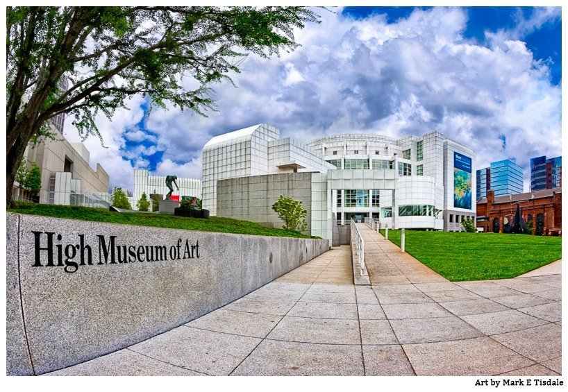 Wide Angle Photo of the High Museum in Atlanta