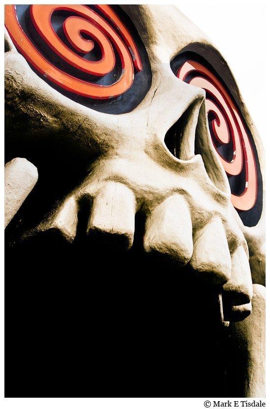 Photo of the Vortex Skull in Little Five Points in Atlanta Georgia
