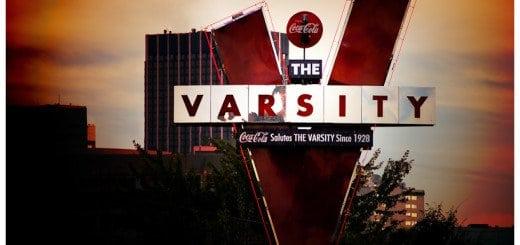 Photo of Atlanta's Varsity Sign at Dusk