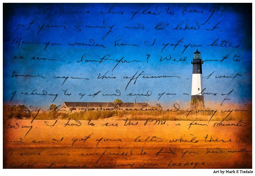 Artistic Picture of the Lighthouse on Tybee Island Georgia - Great Vintage Feel