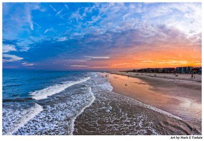 Beautiful picture of the Beach on Tybee Island near sunset - killer sky