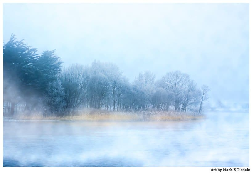 Landscape Photo of a foggy day on the River Corrib in Galway Ireland