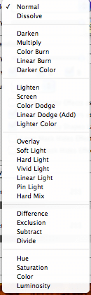 Screenshot of photoshop blending options