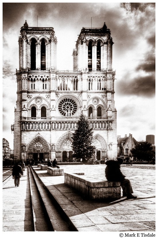 Photo taken from the front of Notre Dame de Paris Cathedral