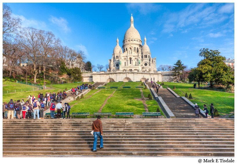 Photo of Montmartre's famous Sacre Coeur church