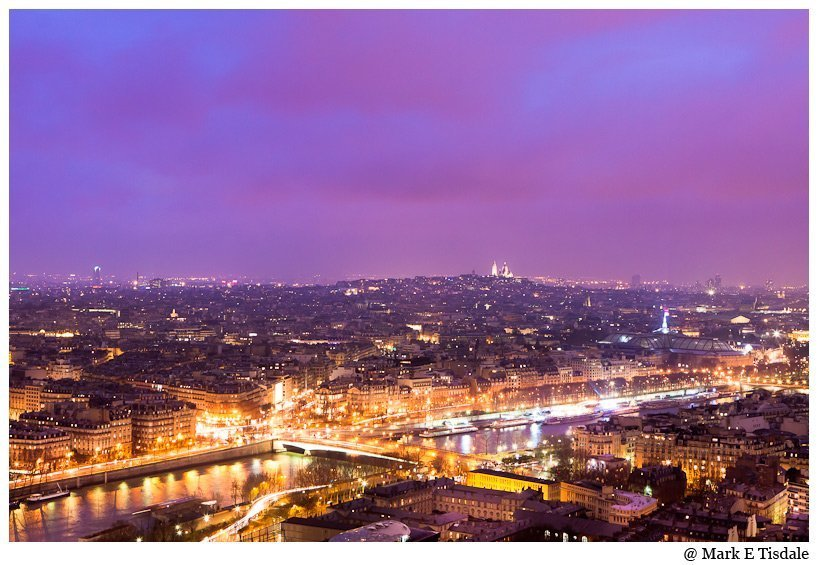 Photo of the view of the Paris Skyline from the Eiffel Tower