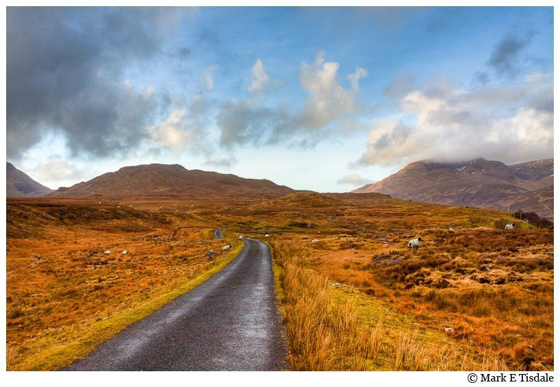 Photo taken in Connemara in Ireland - I love roads leading to the horizon as in this picture
