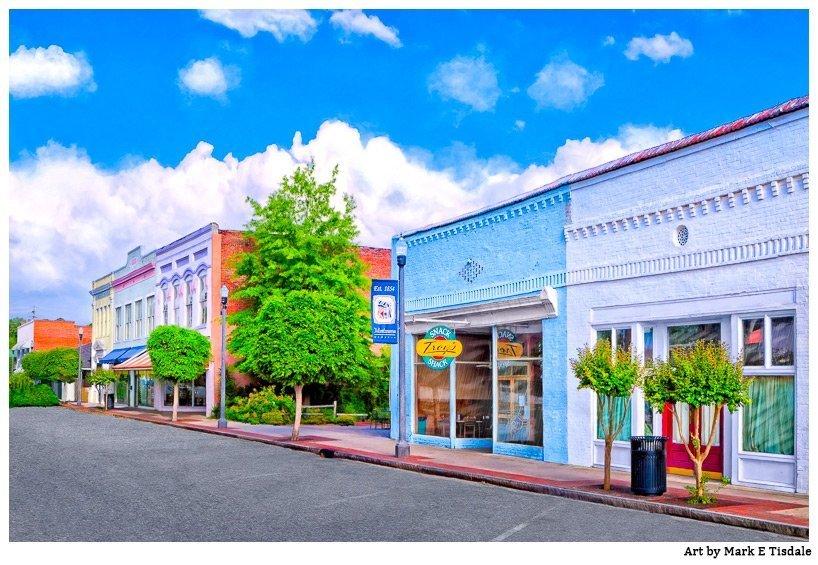 Cherry Street in Montezuma, Georgia - Photo that features Troy's Snack Shack