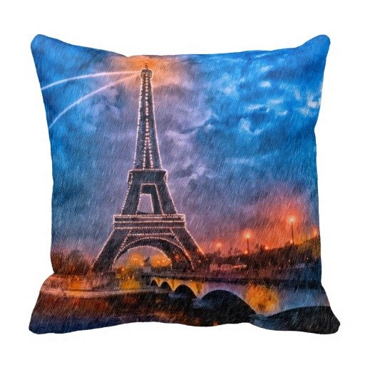 Paris In The Rain Art Throw Pillow