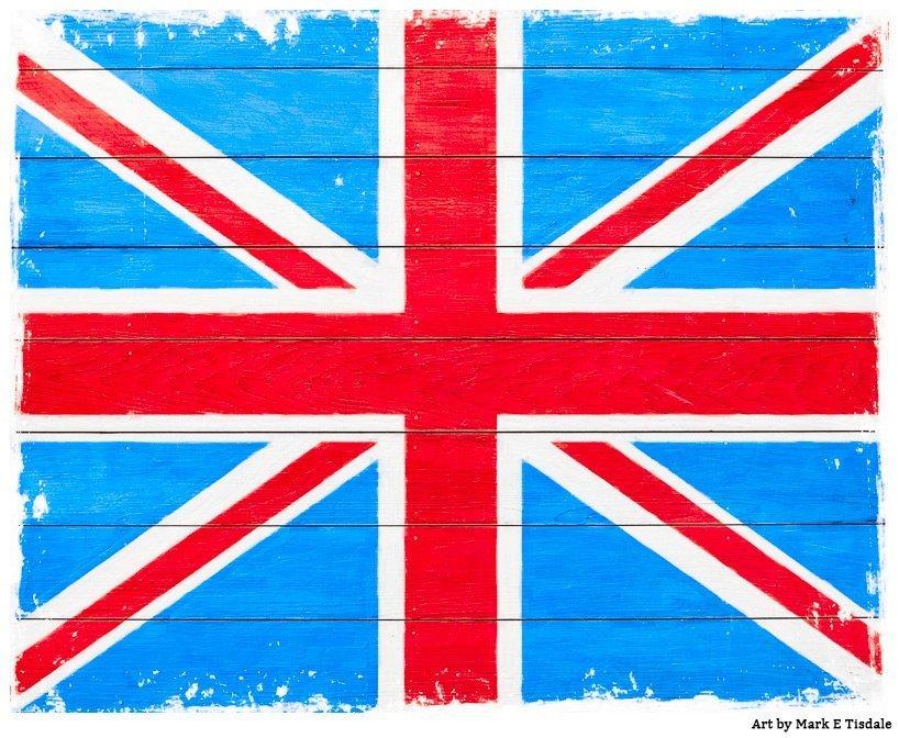 Rustic Union Jack Flag Design