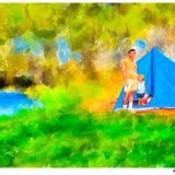Summer Memories - Father's Day Art