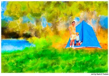 Summer Memories - Father's Day Art