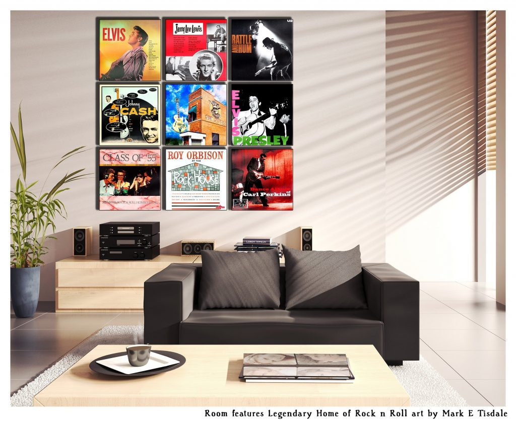 Ideas for Album Cover Wall Art Display