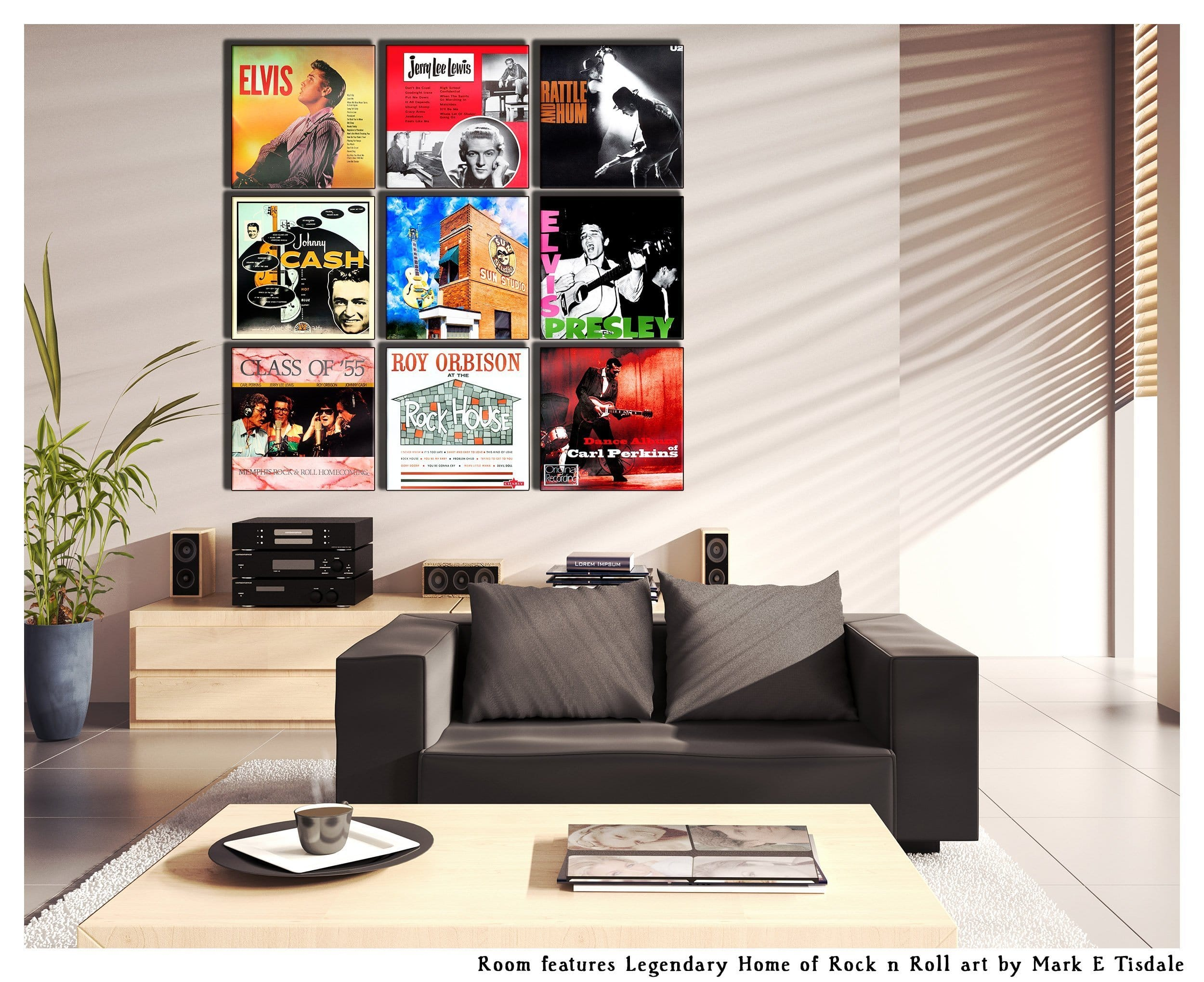 Album Cover Wall Art Display Ideas Grouping With Art