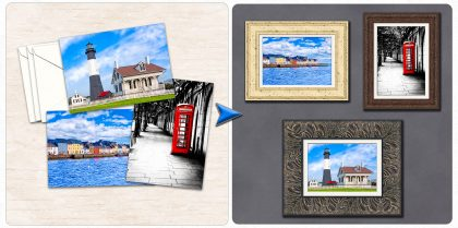 Affordable Art Secret - 5x7 Greeting Cards As Framed Art