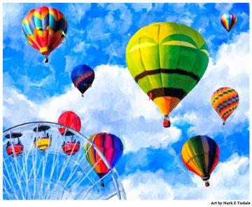 Hot Air Balloon Nursery Art Print - Whimsical & Surreal Artwork
