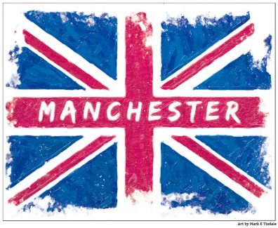 Social Media Tribute Flag for Manchester Arena Attack