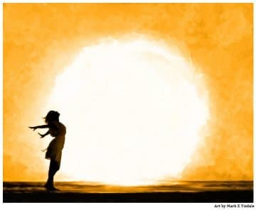 Spiritual Artwork Print - Child Of The Universe