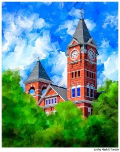 Auburn Art - Samford Hall artwork by Mark Tisdale
