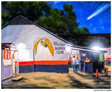 War Eagle Supper Club - Auburn Art by Mark Tisdale