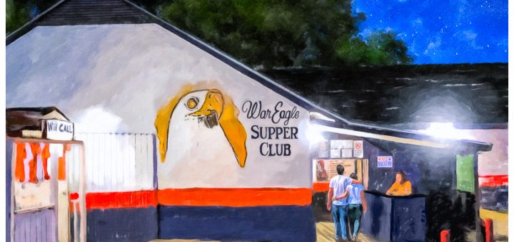 War Eagle Supper Club - Auburn Art by Mark Tisdale