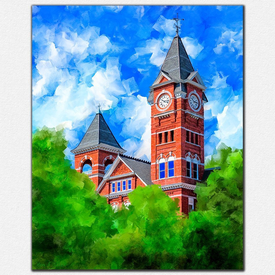 Auburn Prints - Samford Hall Artwork