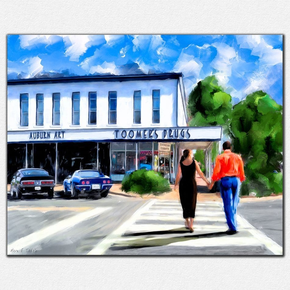 Auburn Prints - Love on Toomer's Corner