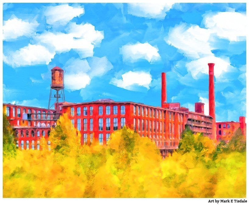 Local Atlanta Art - Fulton Cotton Mill Painting